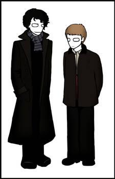 BBC: Sherlock and Watson.