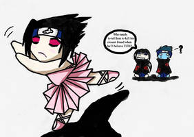 Sasuke Teme in a Tutu by GaavnValsVoyeur