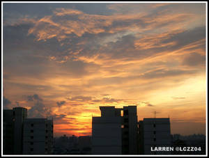 Sunset from my House...