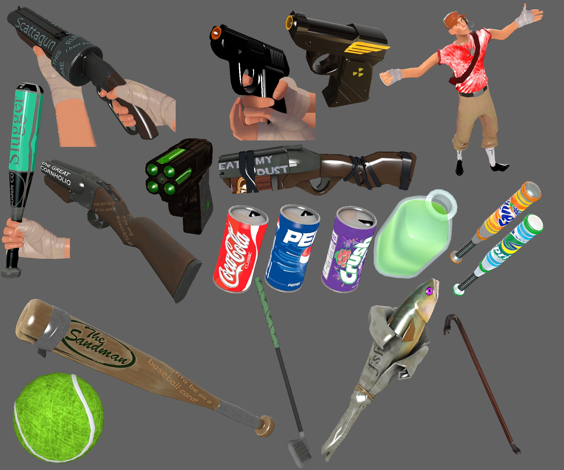 tf2 how to get all items