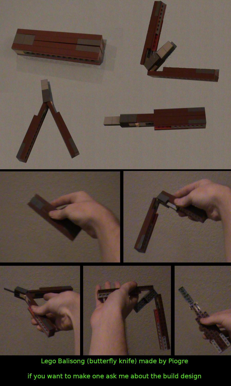 Нож бабочка из лего