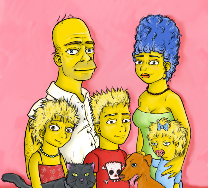 simpsons by reggiey