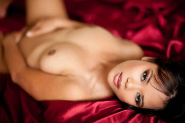 Luana on my bed by PerryGallagher