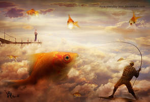 fishing in the sky by ilura-menday-less