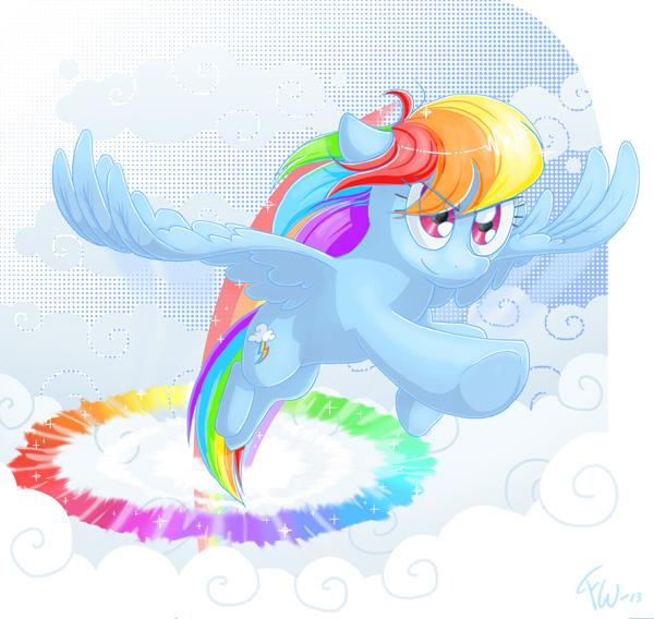 Sonic rainboom by Fennu