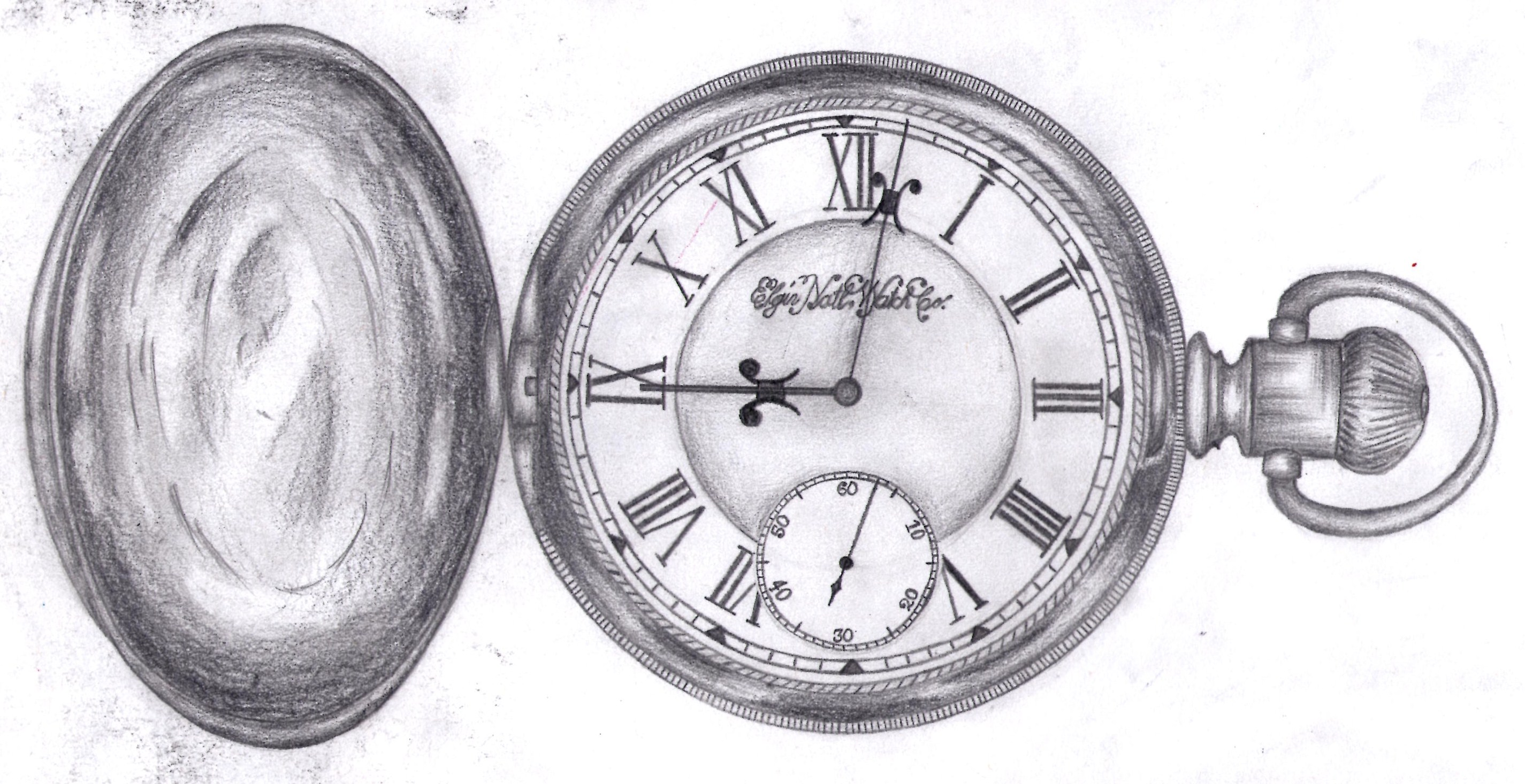 Pocket Watch Drawings: Elgin Pocket Watch By LaurenceWhymark On DeviantArt