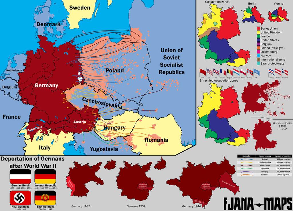 Map Of Germany And Czechoslovakia.German Deportations After World War Ii By Fjana On Deviantart
