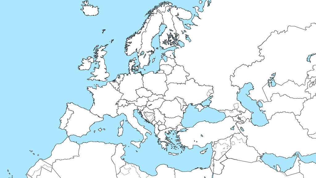 Europe Blank Map  Format Current Situation By Fjana On