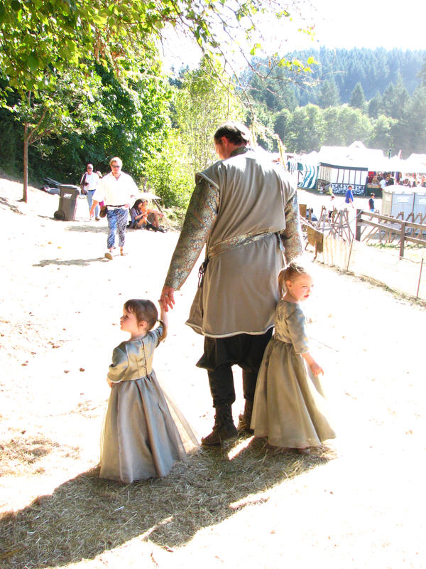 Father and Daughters by IthiliamStock