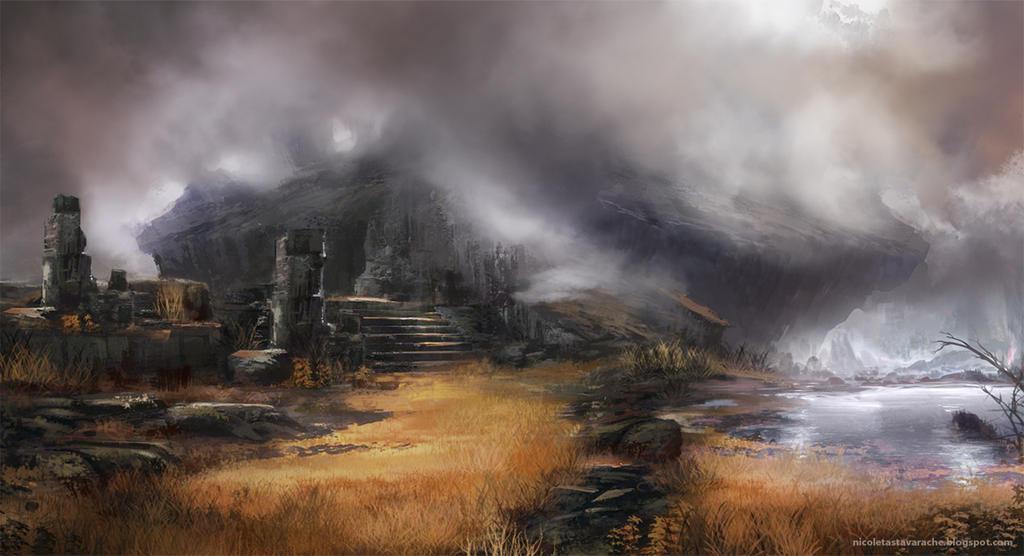 Foggy lake by lavam00