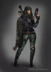 Post apocalyptic character by lavam00