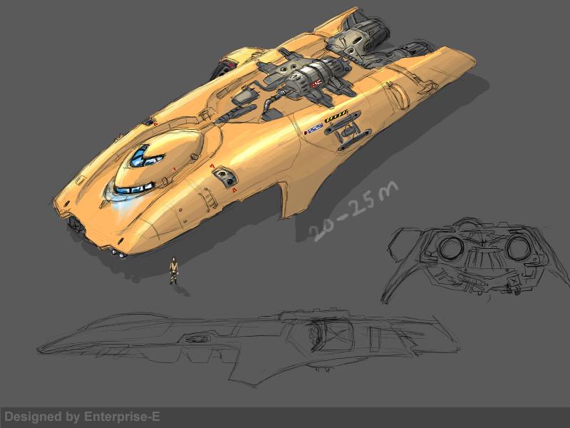 Own corvette design 01 by Enterprise-E