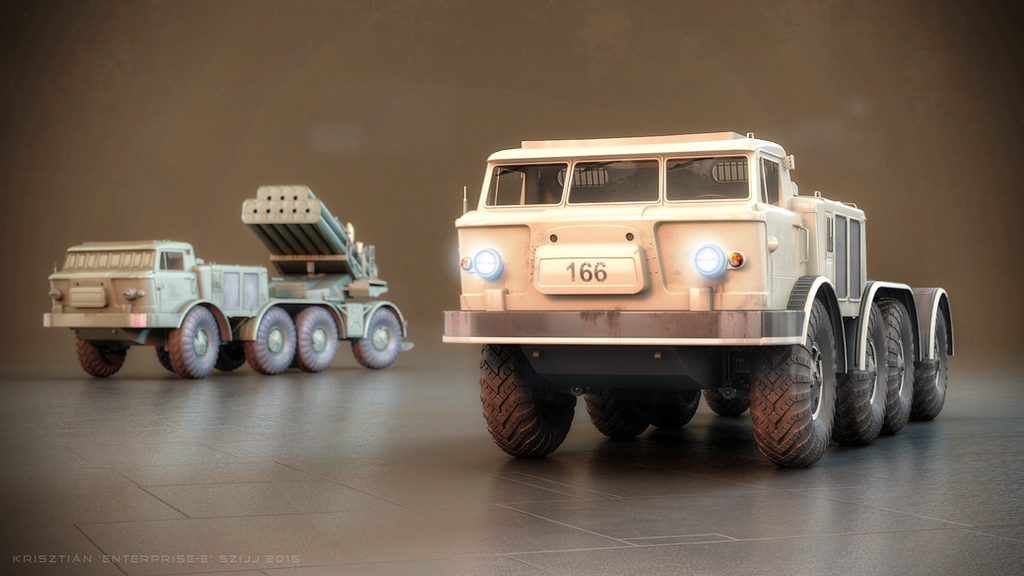 ZiL-135 base vehicle and 9P140 'Uragan' MLRS #2 by Enterprise-E