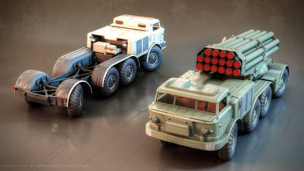 ZiL-135 base vehicle and 9P140 'Uragan' MLRS