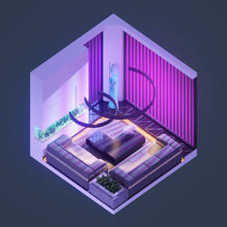 Isometric Room - Luxury Apartment