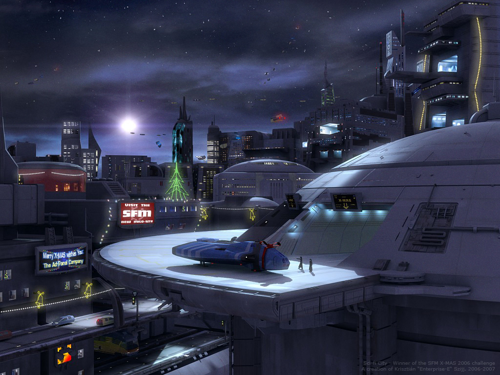 SFM X-mas - Sci-fi City by Enterprise-E