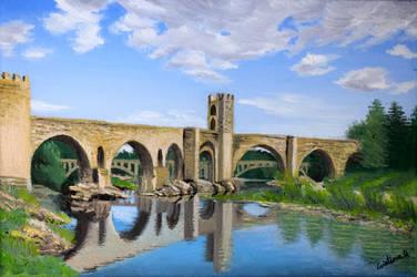 Medieval bridge by acrosstars22