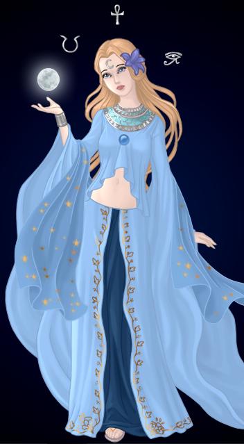 Selene goddess of the moon drawings