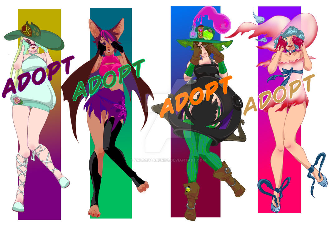 [OPEN].:ADOPTS:. Witchwiticas by falcoDArgento