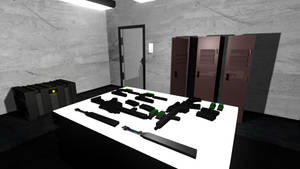 Low Poly Gun Room 5