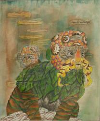 Emperor Tamarin - Colage