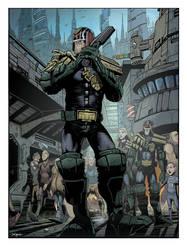 Judge Dredd on patrol by DanJackota