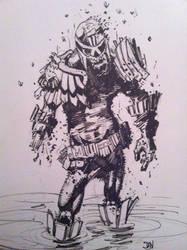 Zombie Dredd sketch by DanJackota