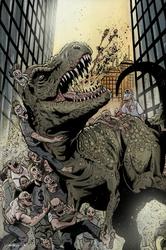 T-Rex vs Zombies by DanJackota