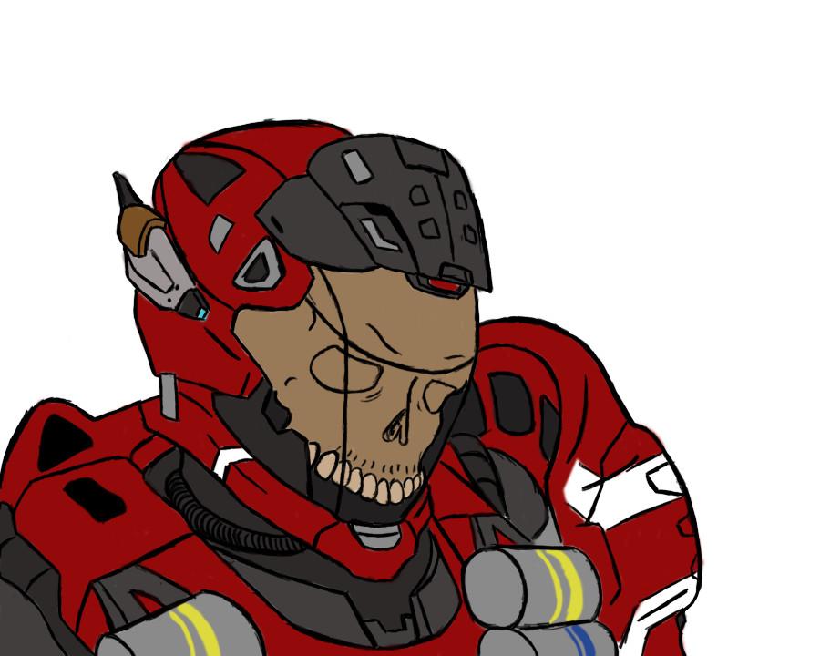 Halo Reach Haunted Helmet by Spartan-A51 on DeviantArt