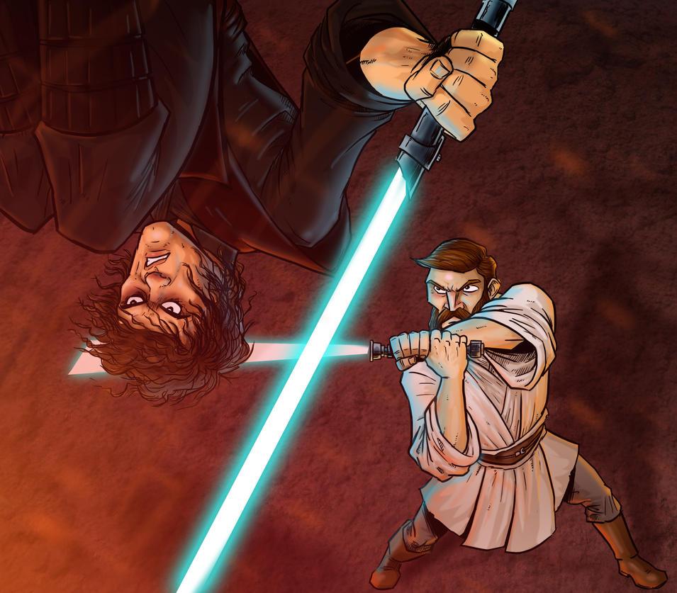 Obi Wan Anakin Osoka Coloring Pages