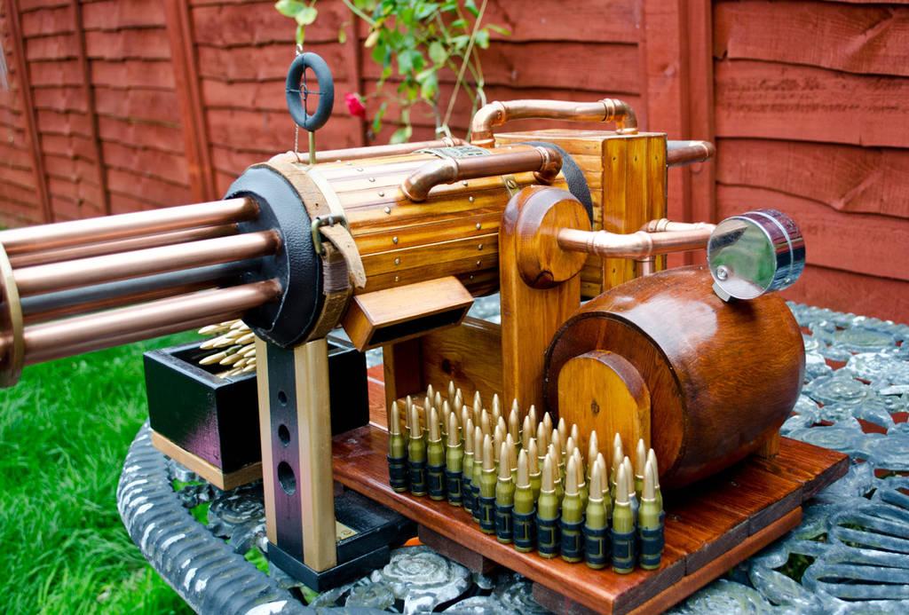 Steampunk Gatling gun 3 by steampunk-willy64