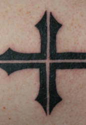 My Cross Tattoo by notacamouflagesoul