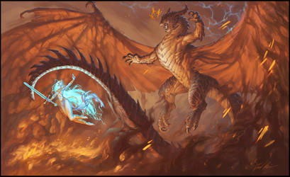 Thunder and Flame by Trollfeetwalker