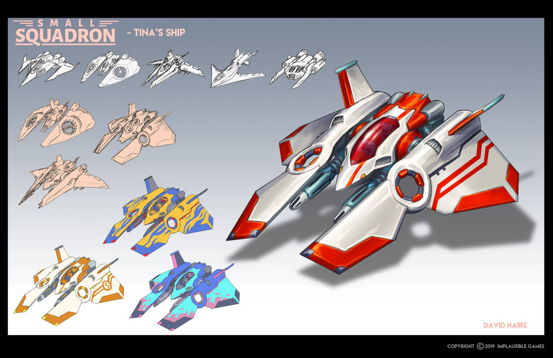 Small Squadron: Tina's Ship by Trollfeetwalker