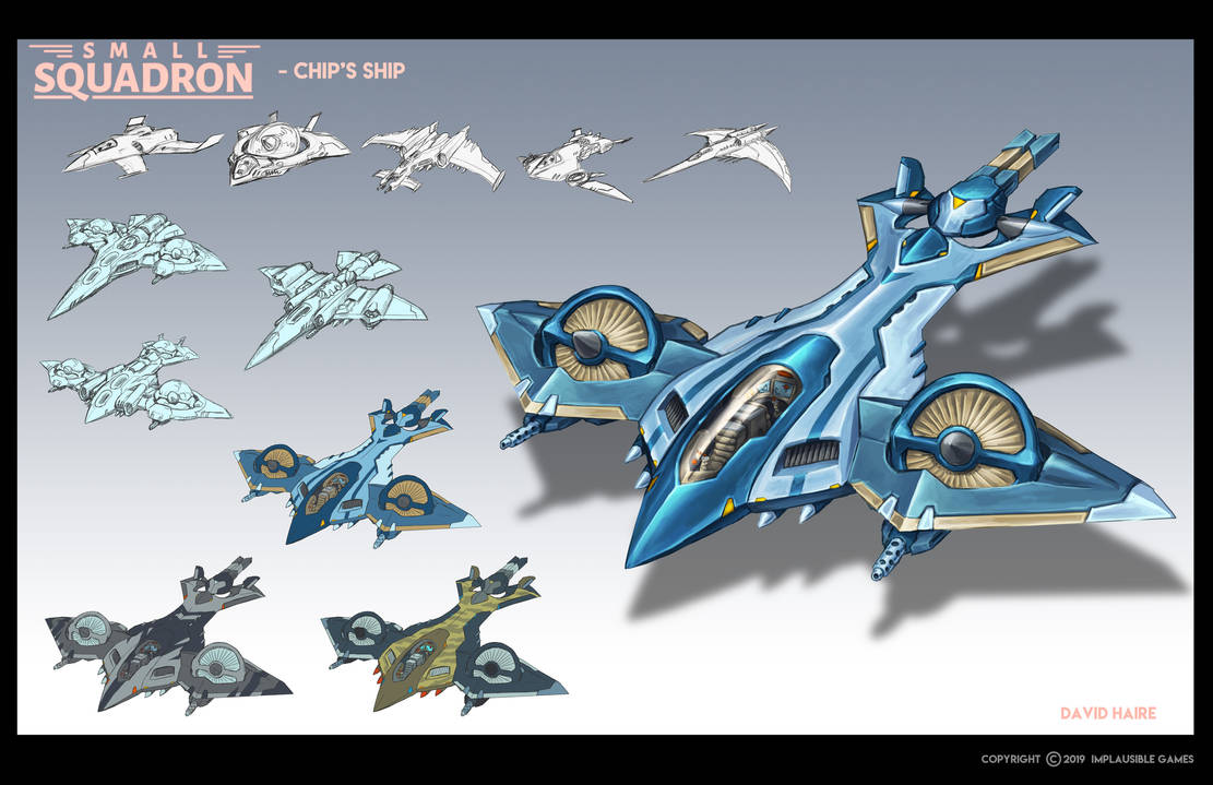 Small Squadron: Chip's Ship by Trollfeetwalker