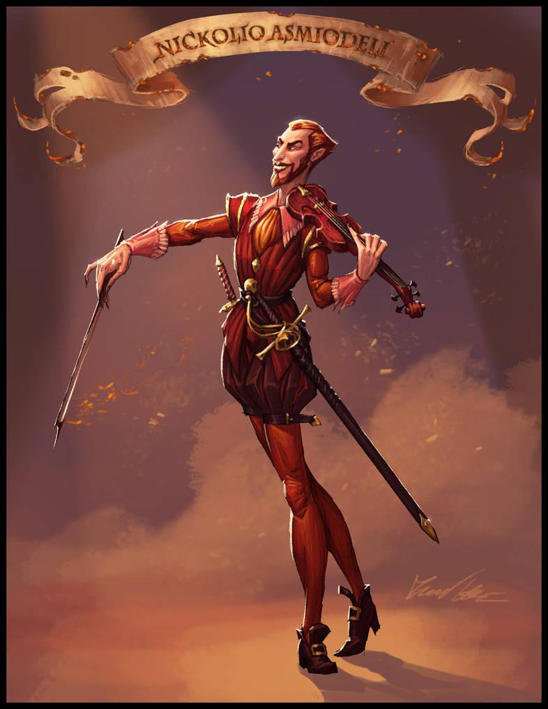Devilish Bard by Trollfeetwalker