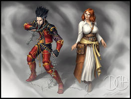 Vars and Colette, Human Fighters