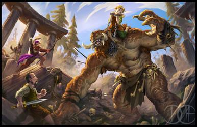 Bossfight by Trollfeetwalker