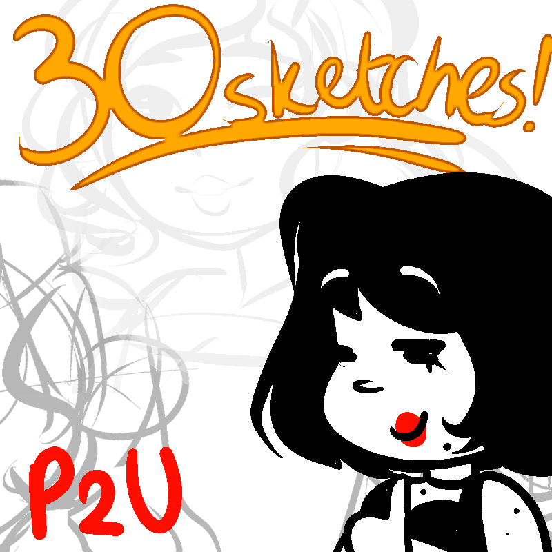 [30 Sketches] Sketch Pack [50 Points - P2U] by LoulabeIIe