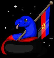 Polyamorous Snake and Flag (F2U)