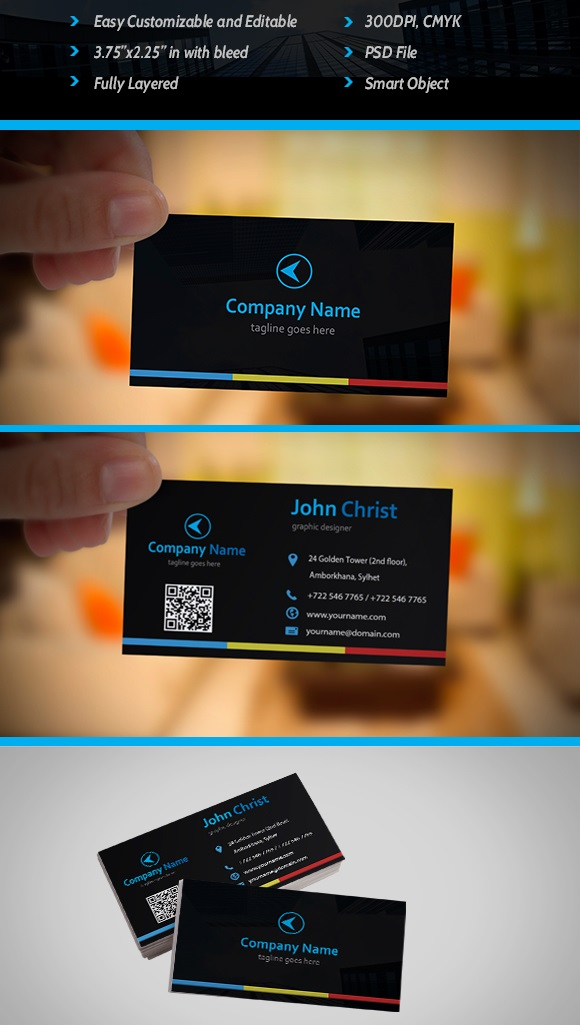 Free Business Card Template PSD by akitty07