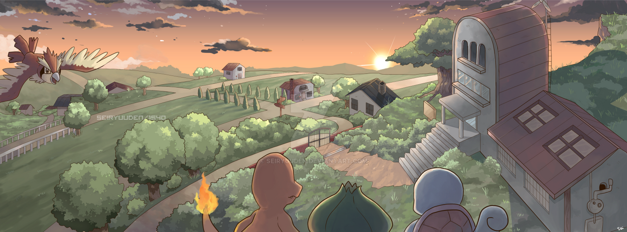 A Place Called Pallet Town by seiryuuden on DeviantArt