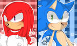 Sonic and Knuckles+Speedpaint