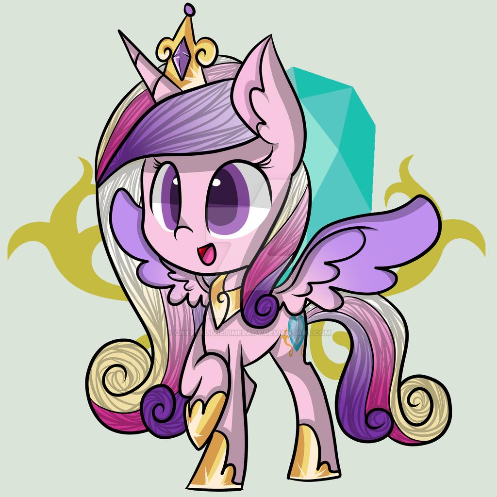 Chibi!Princess Cadance by CrystaltheTimeLady on DeviantArt