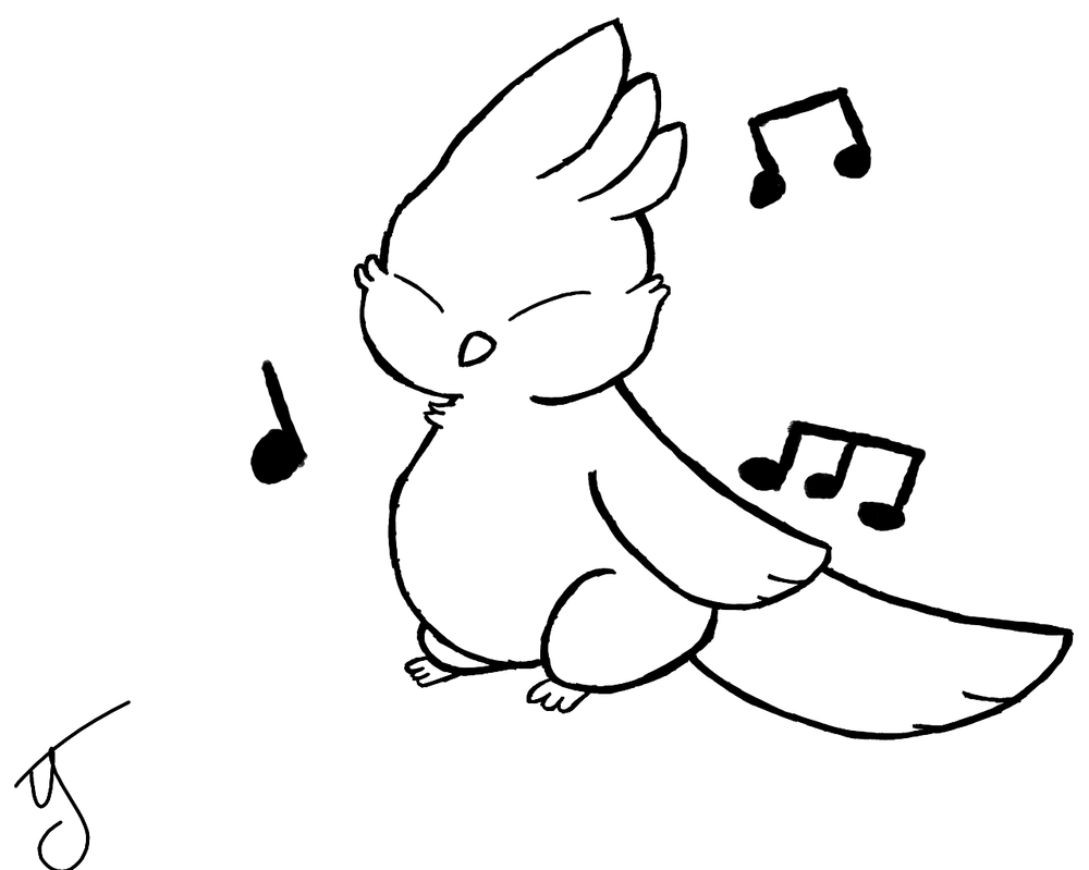 Gilbird lines by puppyland25
