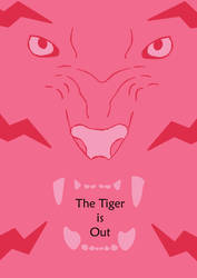 The Tiger is Out poster red