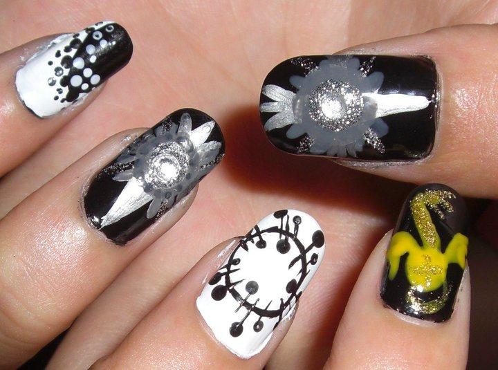 D.Gray-man nails by Kiky-Miko on DeviantArt