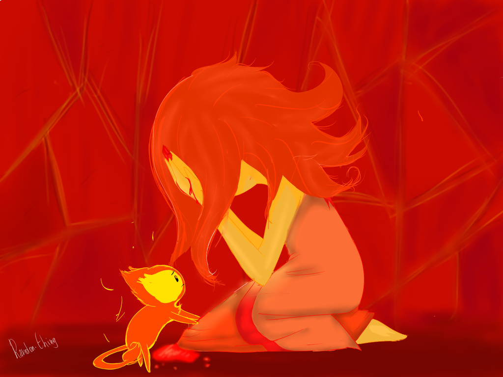 Don't be sad Flame Princess by Randon-thing