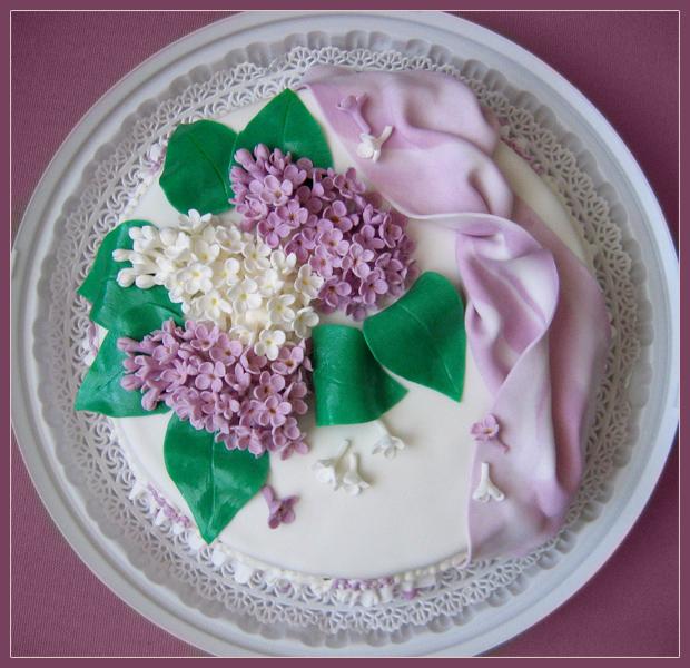 Фото торта с сиренью