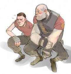 Shy Heavy Weapons Guy by Barukurii
